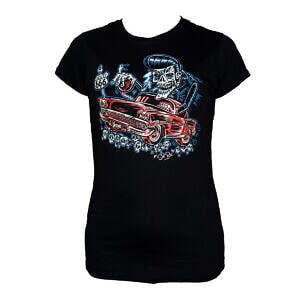 Hepkatz EL Bitcho Womens Black T shirt Stock Image
