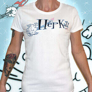 Hepkatz Iconic Womens White T Shirt Featured