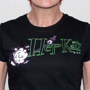 Hepkatz Psyconic Womens Black T Shirt Stock Image
