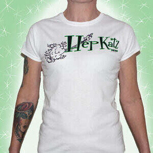 Hepkatz Psyconic Womens White T Shirt Featured
